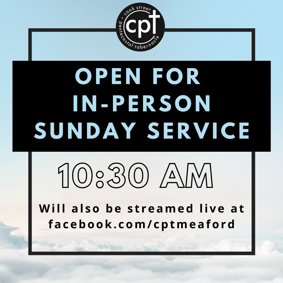 Open for in-person and online Sunday Service